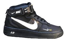 Tenis Bota Nike Air Force Grátis Kit C/ 3 Pares De Meias