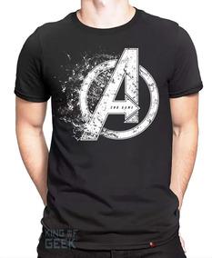 Camiseta Avengers Vingadores Logo Endgame Capitão America