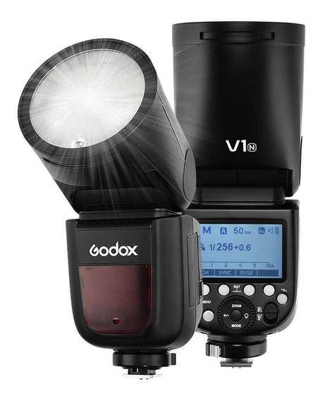 Flash Godox V1-n Cabeça Redonda Ttl Master Speedlight Nikon