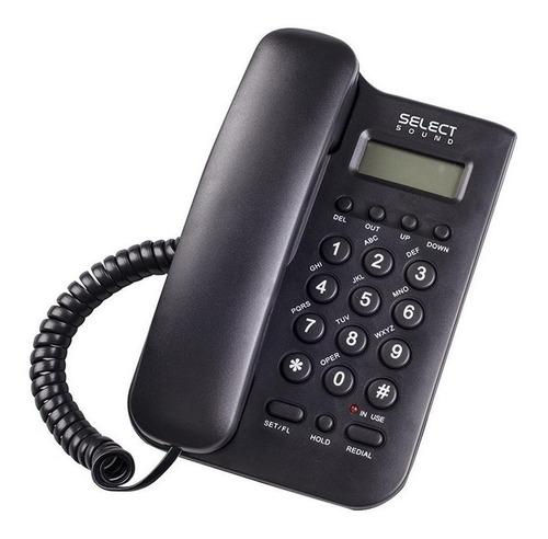 Imagen 1 de 3 de Teléfono fijo Select Sound 8836 negro