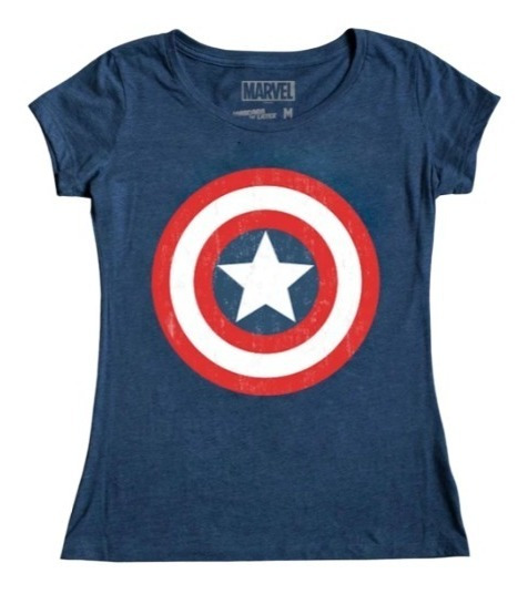 Capitan America Logo Mujer