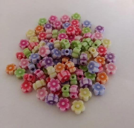 Miçangas Pulseiras Coloridas Infantil Flor 610 Peças