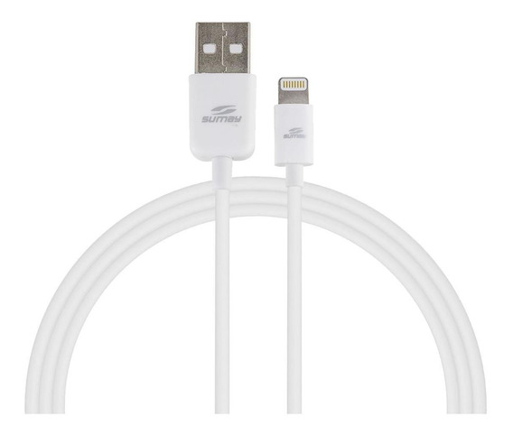 Cabo Lightning Sumay Para iPhone/iPad/iPod Modelos 5/6/7 Sm-c3312 12 Metros Branco