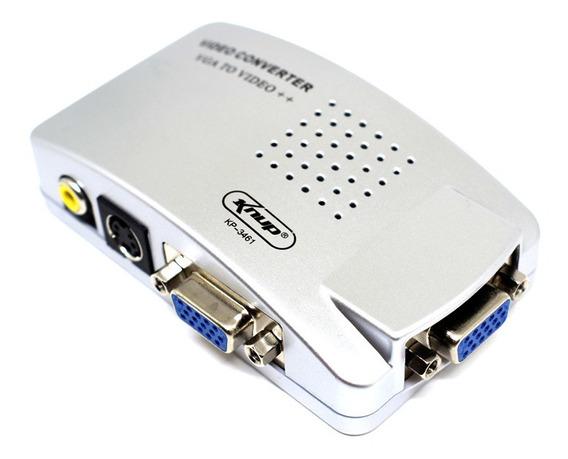 02 Conversor De Video Vga Para Rca Audio E Video Kp-3461