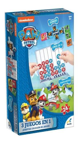 Set De Juegos 3 En 1 Paw Patrol, Caja Carton