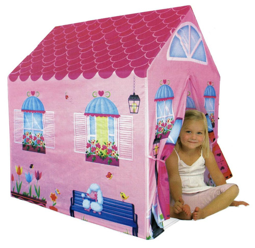 Casa Niñas Tela Estruc Caño Plast 105x76x98 / Open-toys 125