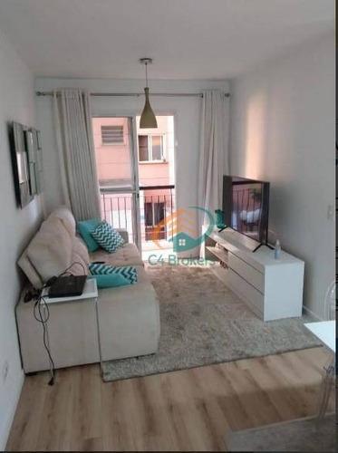 Apartamento Com 3 Dormitórios À Venda, 69 M² Por R$ 310.000,00 - Ponte Grande - Guarulhos/sp - Ap2305