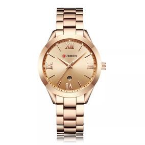 Relógio Curren Feminino Luxo Frete Grátis