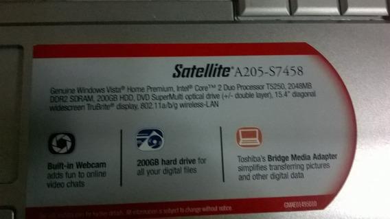 Toshiba Satellite A205 -s7458 Para Repuesto Por Piezas