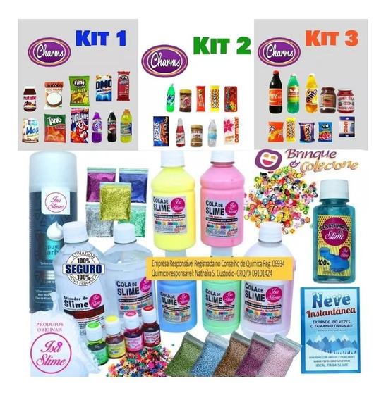 Kit Completo Para Fazer Slime + Espuma De Barbear Isa Slime