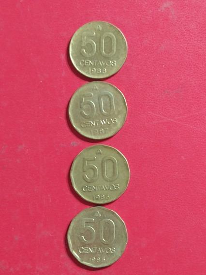 Monedas 50 Centavos Australes,años,1985 Al 88