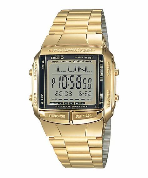 Relógio Casio Databank Unissex Db-360g-9adf Dourado