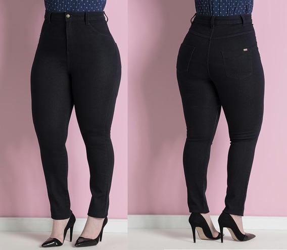 Calça/jeans Cintura/alta Moda/feminina