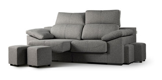 Sillón Sofa De Living 3 Cuerpos Moderno Tela Pana - Paris 3