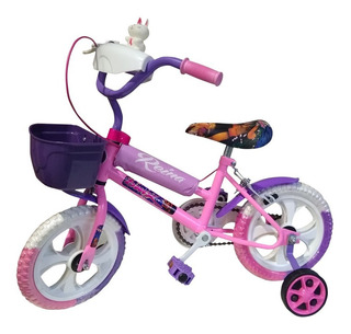 Bicicleta Rodado 12 Infantil Nena Violeta Canasto