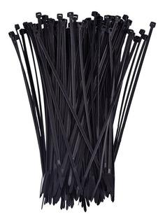 Amarra Plástica 3,6 X 300 Mm Negra (100 Unidades)