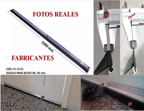 Zocalo O  Parabichos Para Puerta De Goma Cauchoy Aluminio Fa