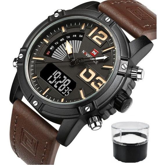 Relógio Naviforce 9095 Militar Lançamento Nota Fiscal Top