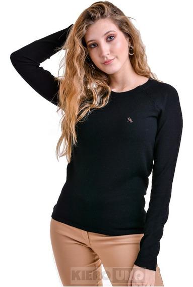 Sweater Mujer Saco Cuello Redondo Hermoso Kierouno