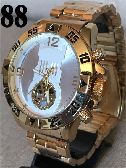 Relógio Masculino Grande Pesado Exclusivo Importado + Caixa!