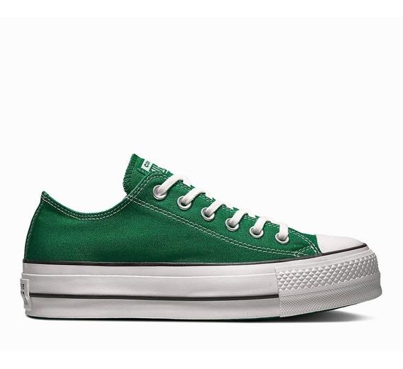 Zapatillas Converse Plataforma Verde 564734c