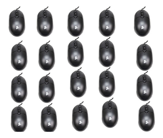 20 Mouses Usb Chip Sce 5+ 015-0043 1000dpi Preto
