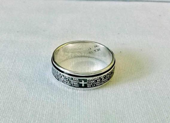 Caballeros señora anillo de acero inoxidable-cruz-Padre nuestro-joyas de moda nuevo