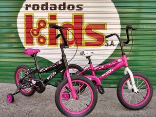 Bicicleta Niña Rodado 16 Aluminio Bici Bmx Cross Nenas