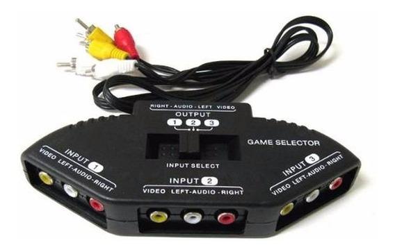 Chave Seletora Rca Av Tv Tubo Lcd Led Video Ps3 Ps2 Xbox Dvd