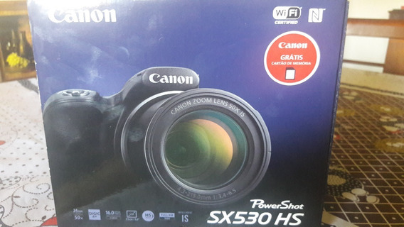 Câmera Canon Sx530 Hs Zoom 50x Wi-fi + Bolsa+ 8gb