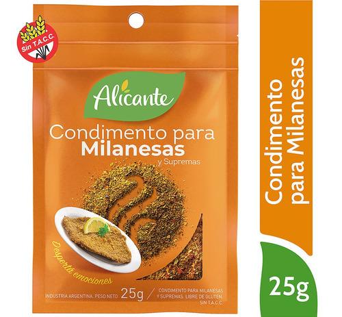 Alicante Condimento Para Milanesas Y Supremas X 25 Gr