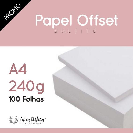 Papel Offset A4 240g - 100 Folhas