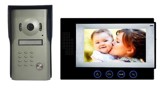 Vídeo Porteiro Eletronico Câmera Visão Noturna Eletrônico Interfone Campainha Profissional Primeira Linha
