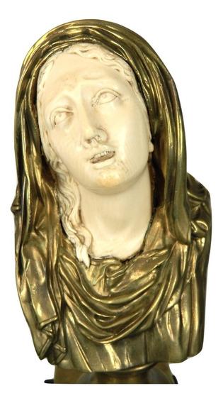 Antigua Criselefantina Virgen Dolorosa Por D. Alonzo Francia