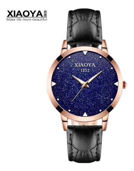 Relogio Feminino Céu Estrelado 1252 Nova Moda Mulheres + Caixa + Bracelete