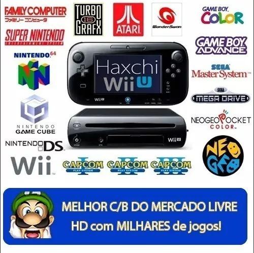 Nintendo Wii U Desbloqueado + Hd 500gb + Brindes