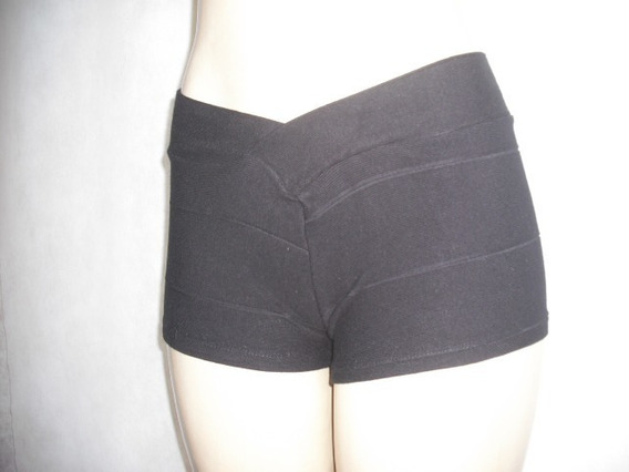 Mini Micro Shorts Preto Bandage Tam U Bom Estado