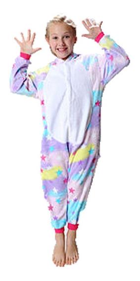 Pijama Unicornio Rosa Celeste Estrellas Mmk