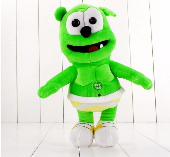 Boneco Pelúcia Gummy Bear 30cm - Ursinho Que Canta A Música!