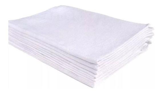 Pano De Prato Branco Bainha O Legítimo Kit Com 20 Peças