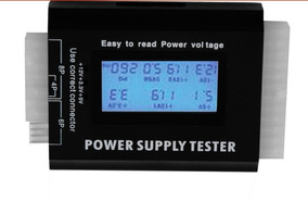 Digital Lcd Pc Computador Pc Power Supply Tester 20/24 Pin