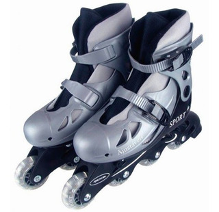 Patins Roller In-line 38 A 41 Cinza Ou Rosa Regulável Adulto