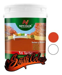 Membrana En Pasta Con Poliuretano 10kg Mi Techo Netcolor