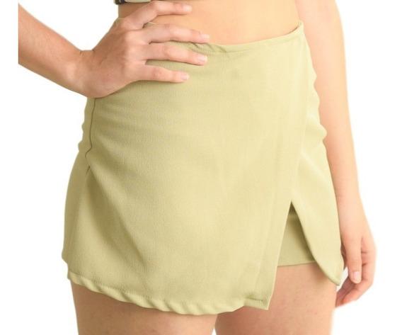 Carola Moda Falda Short Juvenil De Pico Al Frente Reg