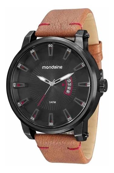Relógio Masculino Mondaine Calendário Marrom 76554gpmvph4