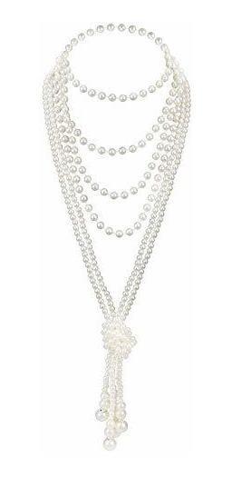 Zivyes - Collar De Perlas De Imitación De Los Años 20 Para