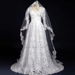 Vestido De Noiva Com Manga - Pronta Entrega