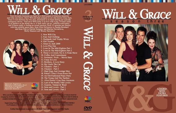 Serie Will & Grace 3ª Temporada 3 Dvds Legendada
