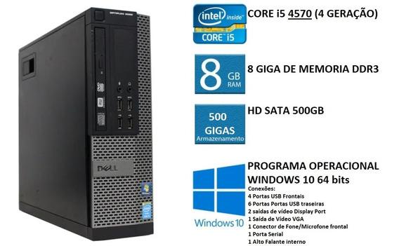 Dell Optiplex 9020 I5 4570 8gb Ram Hd 500gb Computador Cpu
