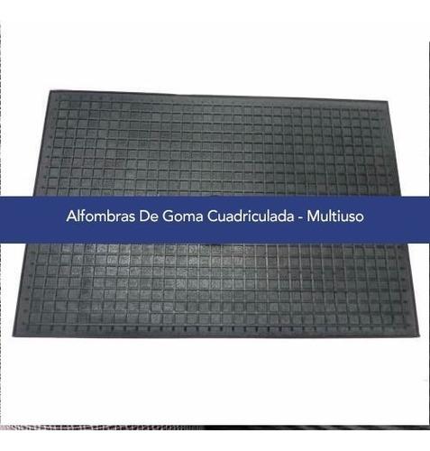 Alfombras Goma Cuadriculada Multiuso 49cm X 69cm Cardelino